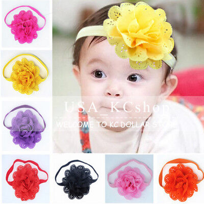 New 10 pcs Cute Kids Girl Baby Toddler Headband Bow Flower Hair Band Accessories