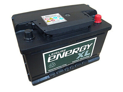 12V 70AH Energy XL E70 Leisure Battery Caravan Motorhome Marine Boat
