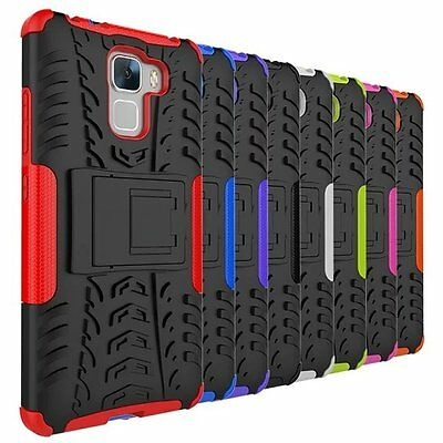 Shockproof Hybrid Rugged Armor Kickstand Case Cover For Huawei Honor 7
