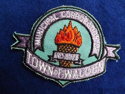 Town Of Walden Municipal Corperation 1973 Patch Souvenir Badge  Collector