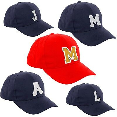 Children School Baseball Cap Boy Girl Adjustable Snapback Kids Hat Letter A-Z LA