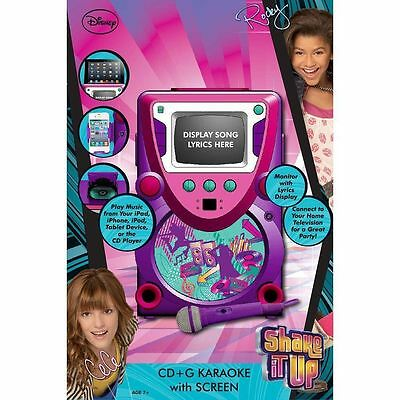 New!! Disney Shake it Up Karaoke System w/ 5.5-Inch Screen Pink/Purple - Retail