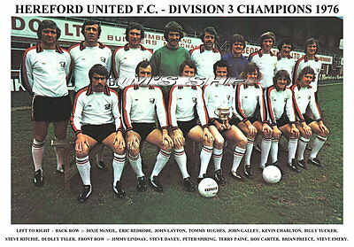 Hereford United F.c. Team Print 1976 (Division 3 Champions)