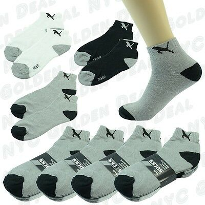 Skull 12 Pairs For Mens Ankle Quarter Crew Sport Socks Cotton Low Cut Size 10-13
