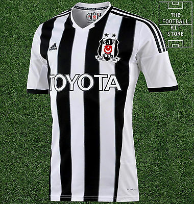 Besiktas Home Shirt - Official Adidas Short Sleeved Mens Shirt - All Sizes
