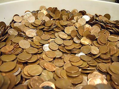 500 Coins Machine Sorted 1959-1982 3 LBS $5 Face Value Copper Pennies