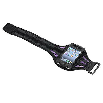 Deluxe Armband for iPod touch 2G/3G (Black/Purple) L3