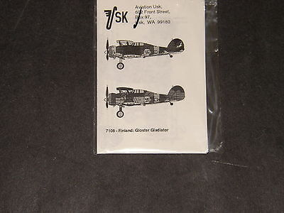 1/72 USK Decals for Finnish Gloster Gladiator