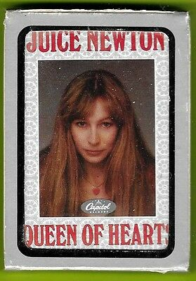 Juice Newton 1981 promo playing cards sealed Queen of Hearts