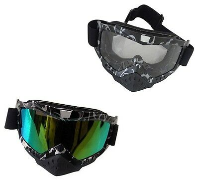 Adult Racing Goggles Motorcycle Motocross ATV Dirt Bike Off Road Street MX SKI