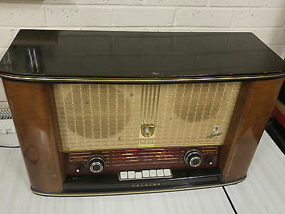 Very Rare 1950's Philips BX755A Bi-Ampli Valve Radio 9 valves Large Size