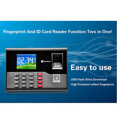 Biometric Employee Fingerprint Attendance System USB DC 12V/1A 2.8 inch screen