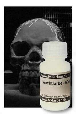 Leuchtfarbe Visible weiß 60ml Neonfarbe Tagesleuchtfarbe Acryl Schwarzlichtfarbe
