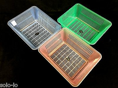 6 Multi Purpose PVC Storage Box Trapezoid Plastic Basket  28 x 22.6 x 11cm