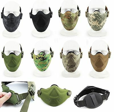 Airsoft Hard Foam Half Face Mask Tactical Paintball Hunting Outdoor Protection