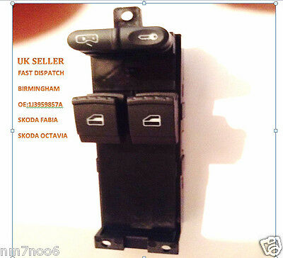 Skoda Fabia Electric Window Control Switch Button Front Right 1J3959857A