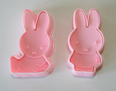 Miffy Plunger Cutters, Rabbits, Bunnies, Set of 2 Plunger Cutters, Sugarcraft