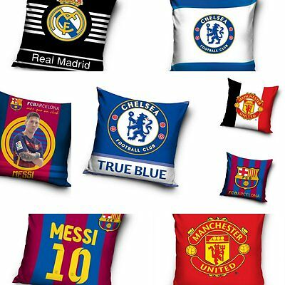 Official Football Cushion Cover Manchester Real Barcelona Chelsea Messi Ronaldo