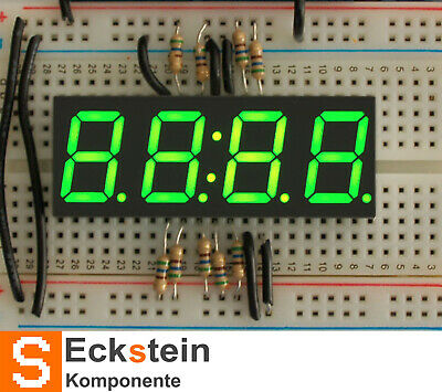 "Green 7-segment clock display - 0.56"" digit height AF813"