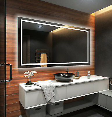 LED Illuminated Bathroom Mirror L15 To Measure Custom Size