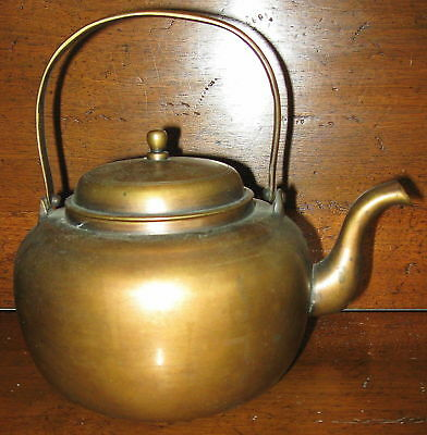 ANTIQUE~Lovely HEAVY SOLID BRONZE ARTS & CRAFTS TEAPOT w/ LID