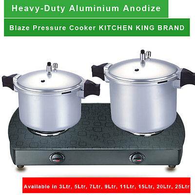 Blaze Pressure Cooker Hard Anodized Aluminium Material In Different