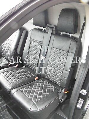 To Fit A Ford Transit Custom Van, Seat Covers, Diesel, Rossini Black Diamond
