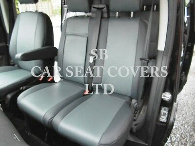 To Fit A Ford Transit Custom Van, Seat Cover, Lwb, Sa4 Grey Leatherette