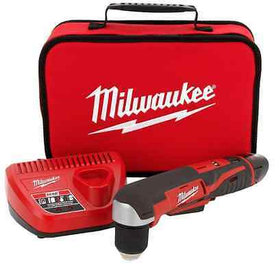 NEW Milwaukee 3/8 in. Variable Speed Cordless Right-Angle Drill Kit