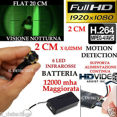 Spy Camera Spia FULL HD MOTION DETECTION TELECAMERA MICRO INFRAROSSI MICROCAMERA