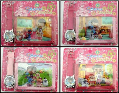 New 12 x DOC MCSTUFFINS Faux Leather Quartz Watches and Wallet Sets Party Gifts