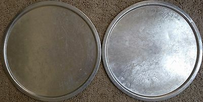 "2 X 15"" Pizza Pan Proofing Lids Fits 15 Inch deep Dish Pans Aluminum Ships Free"