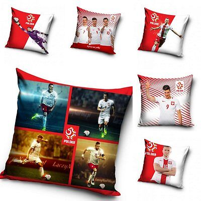 Official Football Decorative Cushion Cover Pillow Case Polish Team Lewandowski