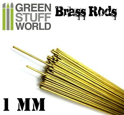 5x Pinning Brass Alloy Rods 1mm - Sculpting Tools Set - Model Making