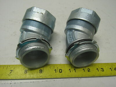 O-Z GEDNEY 4Q-4150T 45 Degree Liquidtight Connector Lot Of 2