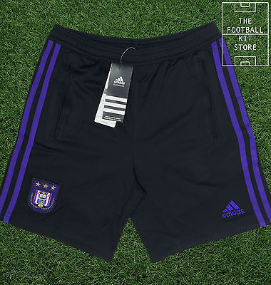 Anderlecht Training Shorts - Adidas Football Shorts with pockets - All Sizes