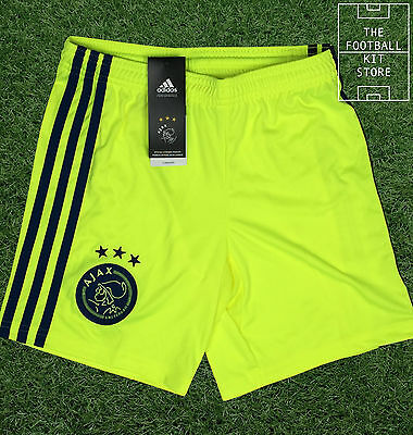 Ajax Away Shorts - Official Adidas Boys Football Shorts - All Sizes