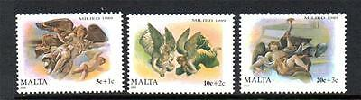 Malta Mnh 1989 Sg860-862 Christmas Set Of 3
