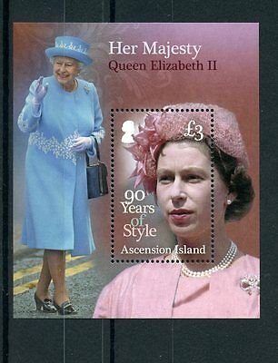 Ascension Island 2016 MNH Queen Elizabeth II 90th Birthday Style 1v S/S Stamps