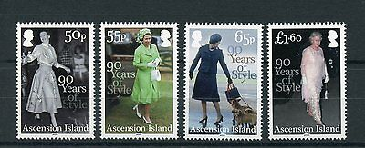 Ascension Island 2016 MNH Queen Elizabeth II 90th Birthday Style 4v Set Stamps