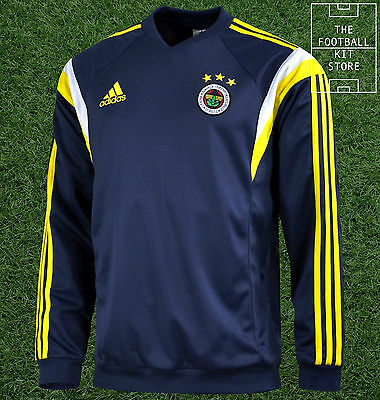 Fenerbahce Training Sweater - Official Adidas Training Wear - Mens - All Sizes