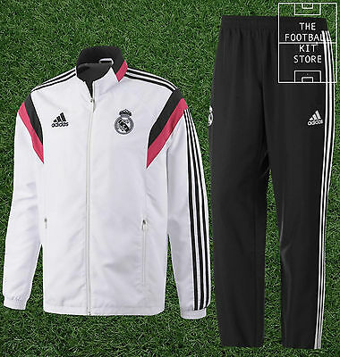 Real Madrid Presentation Suit - Official Adidas Training Tracksuit - Boys Sizes