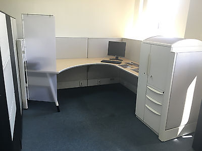 Haworth Cubicles Cubical 8x8 Work Station Office Cubicle
