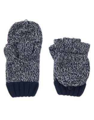 Gymboree Arctic Explorer Blue Marled Convertible Sweater Gloves 5 6 7 8 10 12 Nw