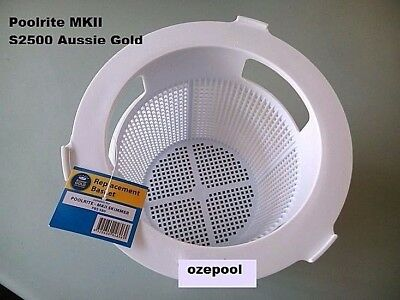 POOLRITE MKII S2500 SKIMMER BASKET - AUSSIE GOLD SWIMMING POOL,FREE DELIVER inOZ