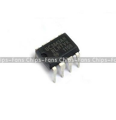 10PCS UC3843AN UC3843 ON 3843 DIP-8 PWM Controller IC  NEW