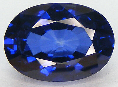 17.30CT. OVAL 18x12.9 MM. DIFFUSION TREATED BLUE SYNTHETIC SAPPHIRE