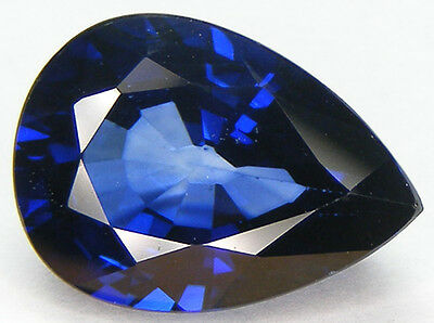 15.69CT. PEAR 18x13 MM. DIFFUSION TREATED BLUE SYNTHETIC SAPPHIRE
