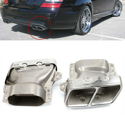 2pcs Exhaust Pipes Tail Muffler Tips For Mercedes Benz W221 W164 AMG 2005-2012