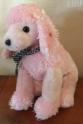 Ty Beanie Buddies 10 Inch Brigitte The Pink Poodle Soft / Plush Toy